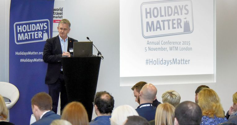 World Travel Market 2015, ExCeL, London – Holidays Matter Conference. John McDonald, Director Family Holiday Association